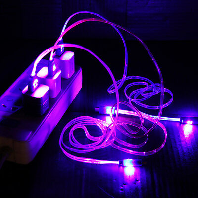 Current Luminous  Data Cord USB Charger Cable Sync Equipment Charging Wire