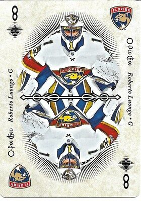 Roberto Luongo #8-SPADES - 2018-19 O-Pee-Chee - Playing Cards