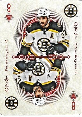 Patrice Bergeron #8-HEARTS - 2018-19 O-Pee-Chee - Playing Cards