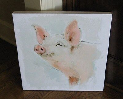 PIG Hog CANVAS Wall PICTURE*Farmhouse Primitive/French Country Decor*New