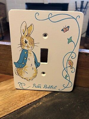 Beatrix Potter Peter Rabbit Light Single Switch Plate Cover Wood Vintage
