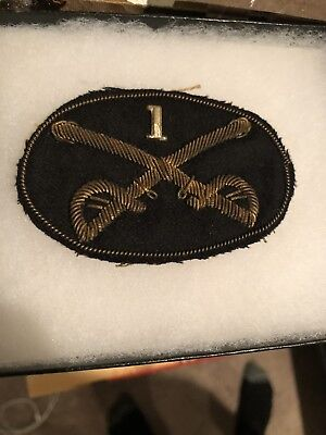 Original Civil War Cavalry Officer Hat Insignia