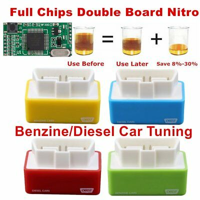 Full Chips OBD2 Car Chip Tuning Box Plug & Drive OBD2 Diesel Engine Save Fuel OV