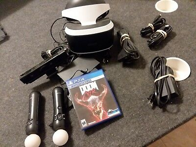 Sony Ps4 VR Headset 2 Motion Controllers PlayStation Cables
