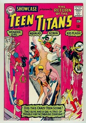 Showcase #59 NM+ 9.6 OW pages Unrestored 1965 DC 3rd Teen Titans appearance