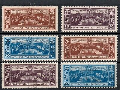 Egypt 1936 Anglo-Egyptian Treaty Sets Of Mint & Used Commemorative Stamps
