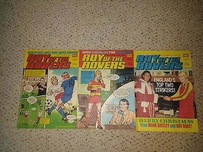 Roy of the Rovers Comics - 3 comics from 1984