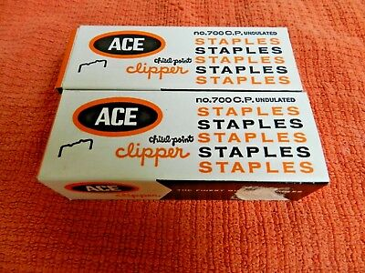 Box of 5000 ACE Undulated Clipper Chisel Point No. 700 C.P. Staples & More