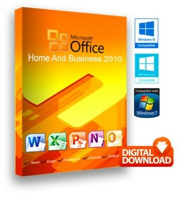 Microsoft Office Home and Business 2010 Genuine Product Key Digital Delivery