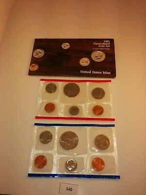 1985 P D US Mint Uncirculated Coin Set w/ Envelope  **NICE** (540)