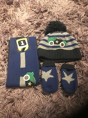 boys hat scarf and gloves set