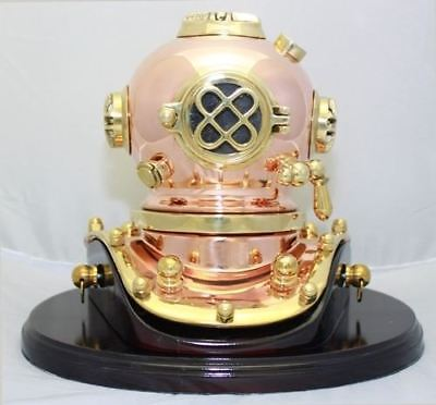 Deluxe Mark V Dive Helmet With a Wooden Base, 75