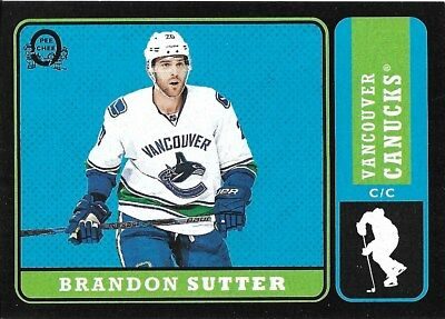 Brandon Sutter #177 - 2018-19 O-Pee-Chee - Base Retro Black - 053/100