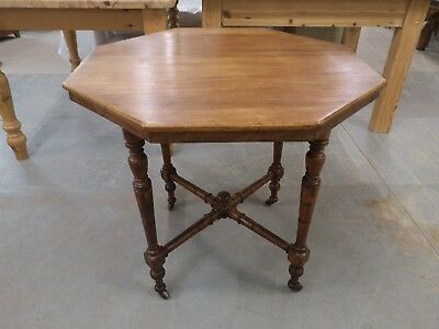 Victorian Mahogany? Octagonal Table Antique Occasional Hall Table *FREE DELIVERY