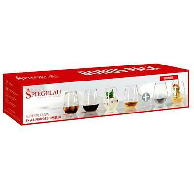 Spiegelau Authentis Casual All Purpose Tumbler, 6er Set, Whiskybecher Whiskyglas