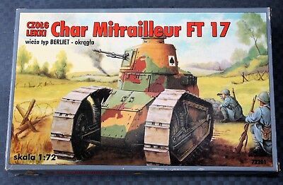 Wwi Carro Francese Ft 17 - Scala 1:72