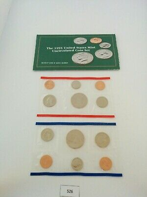 1993 P D US Mint Uncirculated Coin Set w/ Envelope  **NICE** (525)