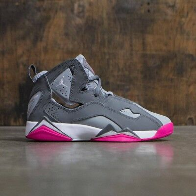 new styles b53bc dfb1c AIR JORDAN TRUE Flight Gs 342774-003 Girls Womens Cool Grey Pink Retro New  Og -  79.90   PicClick