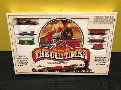 Bachmann N Scale Electric Train Set Old Timer #4404 Factory Sealed!