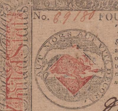 CC-90 *** PCGS AU55 PPQ ***  $4 Jan. 14, 1779 Continental Colonial Currency Note