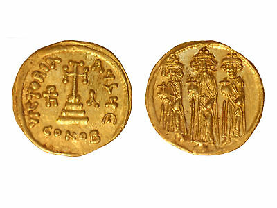 Heraclius & Sons- Byzantine Gold Solidus AD 610-641