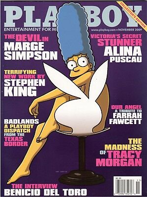November 2009 Playboy Marge Simpson Cover Factory Sealed