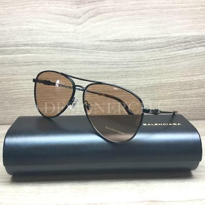 13ae978359 Balenciaga BA5092 5092 Sunglasses Black Havana 01E Authentic 55mm