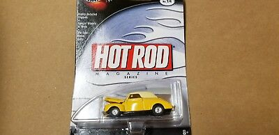 Hot Wheels 100% Hot Rod Magazine Yellow '40 Ford Die Cast 1:64 Scale
