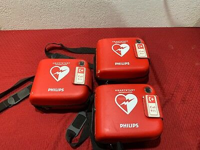 Lot 3 Philips FRX AED used Working Battery's No Pads