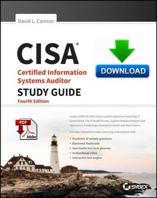 CISA Certified Information Systems Auditor Study Guide - 4th Ed - PDF DOWNLOAD