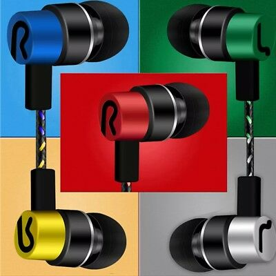 Headset  Wired Braided Cable 3.5mm In-Ear Earphones Stereo