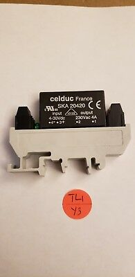 Celduc France Solid State Relay For  Printed Circuit Board SKA 20420 230Vac 4A