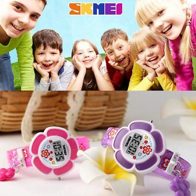 Children Student Watch Flower Pattern Wristwatch Casual Lovely Colorful Kids M7