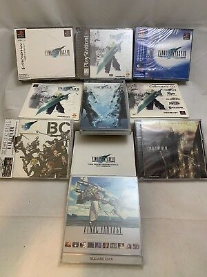 FINAL FANTASY VII ULTIMATE FAN LOT! Sealed PS1! Rare OST! Promo Items! NEW & MIB