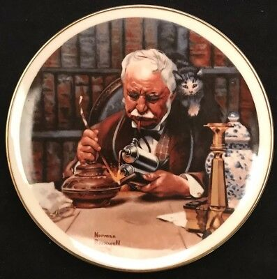 """The Tinkerer 1981 Norman Rockwell 7 1/2"""" Vintage Collector Plate w/ Certificate"""
