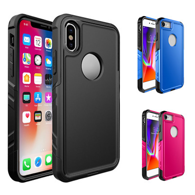 2-in-1 Phone Case Anti-slip Shock-proof Drop Resistant Phone Cover For iPhonHZ