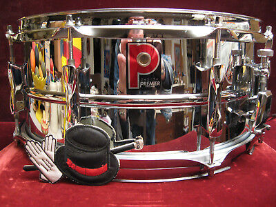 Exquisite Premier 6.5X14 Snare Drum Great Britains Own Supraphonic Classic MINT!