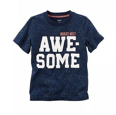 NWT Carter's size 9 Months Worlds Most Awesome shirt short sleeves NEW With Tags