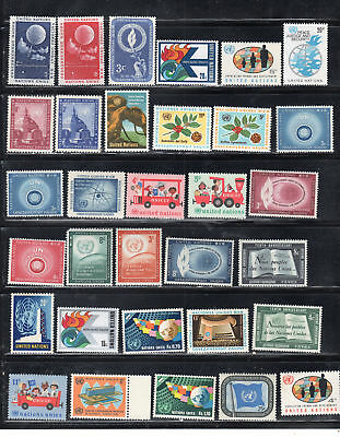 United Nations  Stamps  Mint Hinged Lot  35410