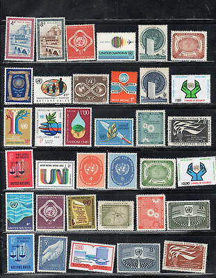 United Nations  Stamps  Mint Hinged Lot  35411