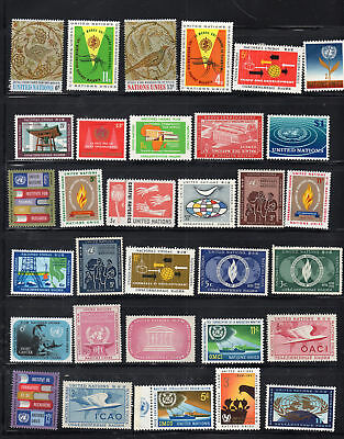 United Nations  Stamps  Mint Hinged Lot  35413