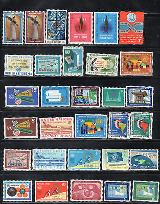 United Nations  Stamps  Mint Hinged Lot  35414