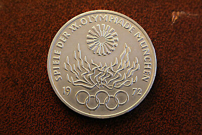 1972 German Munich Olympic commemorative silver coin - 10 deutsche mark UNC