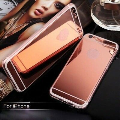 Luxury Ultra Slim Mirror Back Soft Silicone TPU Clear Bumper Phone Case Cover YT