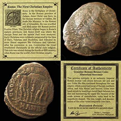 306 IT - 410 AD First Christian Empire ROMAN BRONZE COIN Genuine Ancient Antique