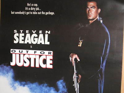 Out For Justice Double-Side Poster Steven Seagal Forsythe Jerry Orbach Margulies