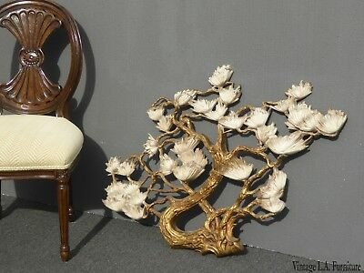 Large Vintage Syroco Style Mid Century Gold Floral Wall Plaque Picture