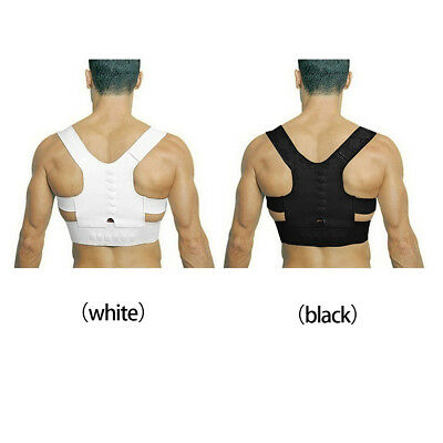 Adjustable Man Women Magnetic Posture Support Corrector Back Bain Brace Belt RF