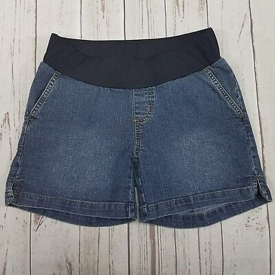 Maternity By Attitude Unknown Denim Shorts Womens Size Small -EUC Used Condition
