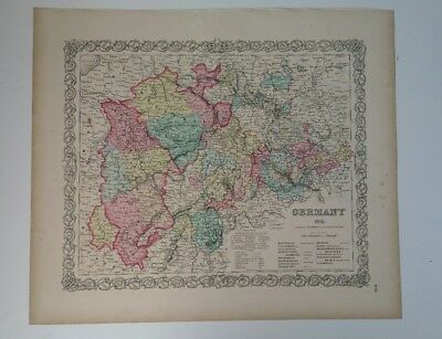 Antique Map Germany #2  Colton's Maps 1856